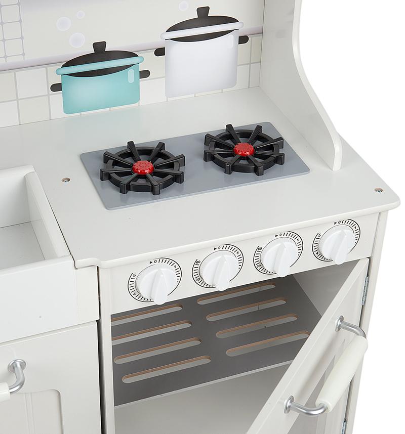 Кухня Edufun TX1170 включает духовку и нижний шкаф для посуды и газовую поверхность