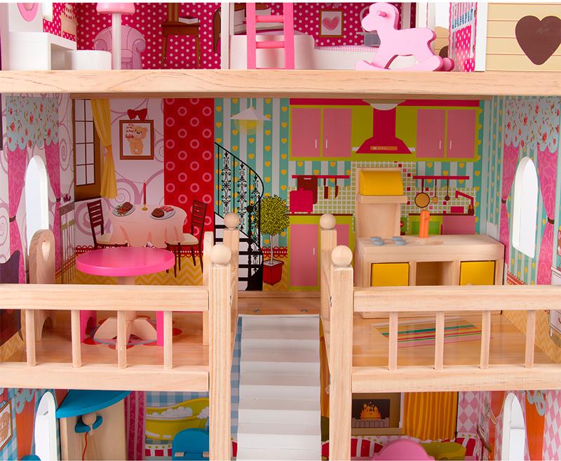 В домике Edufun EF4109 для кукол есть все необходимое