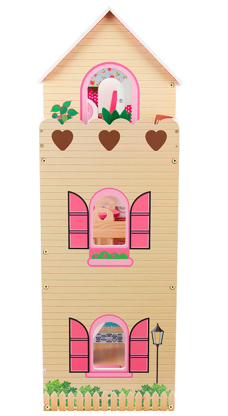 Кукольный домик Edufun с мебелью 90см EF 4109 вид сбоку