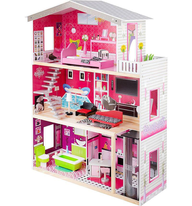 Большой кукольный домик стеллаж, Домик для кукол 4