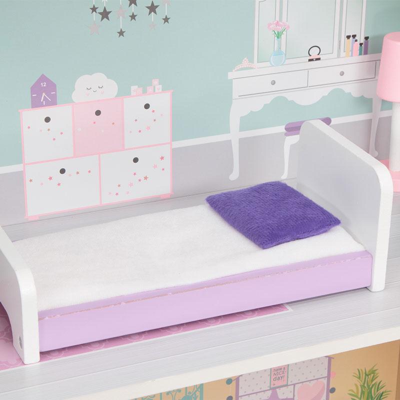 На 3-м этаже есть кровать для сна в домике Edufun EF4121
