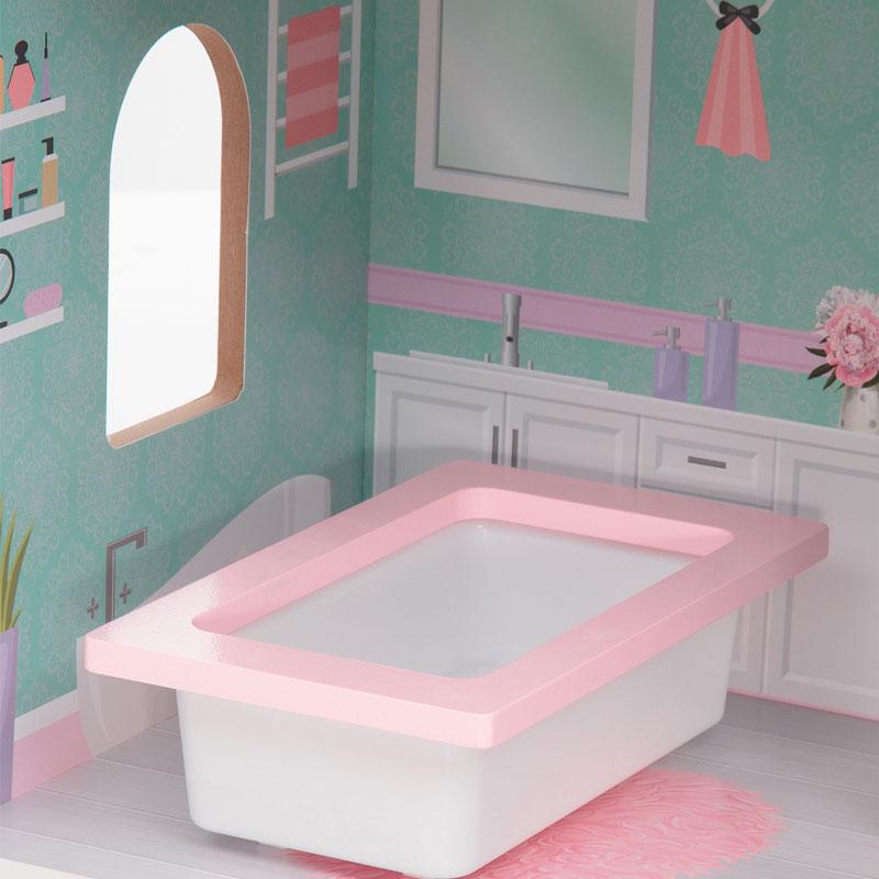 Куколка всегда может принять расслабляющую ванну, которя идет в комлекте домика Edufun EF4121
