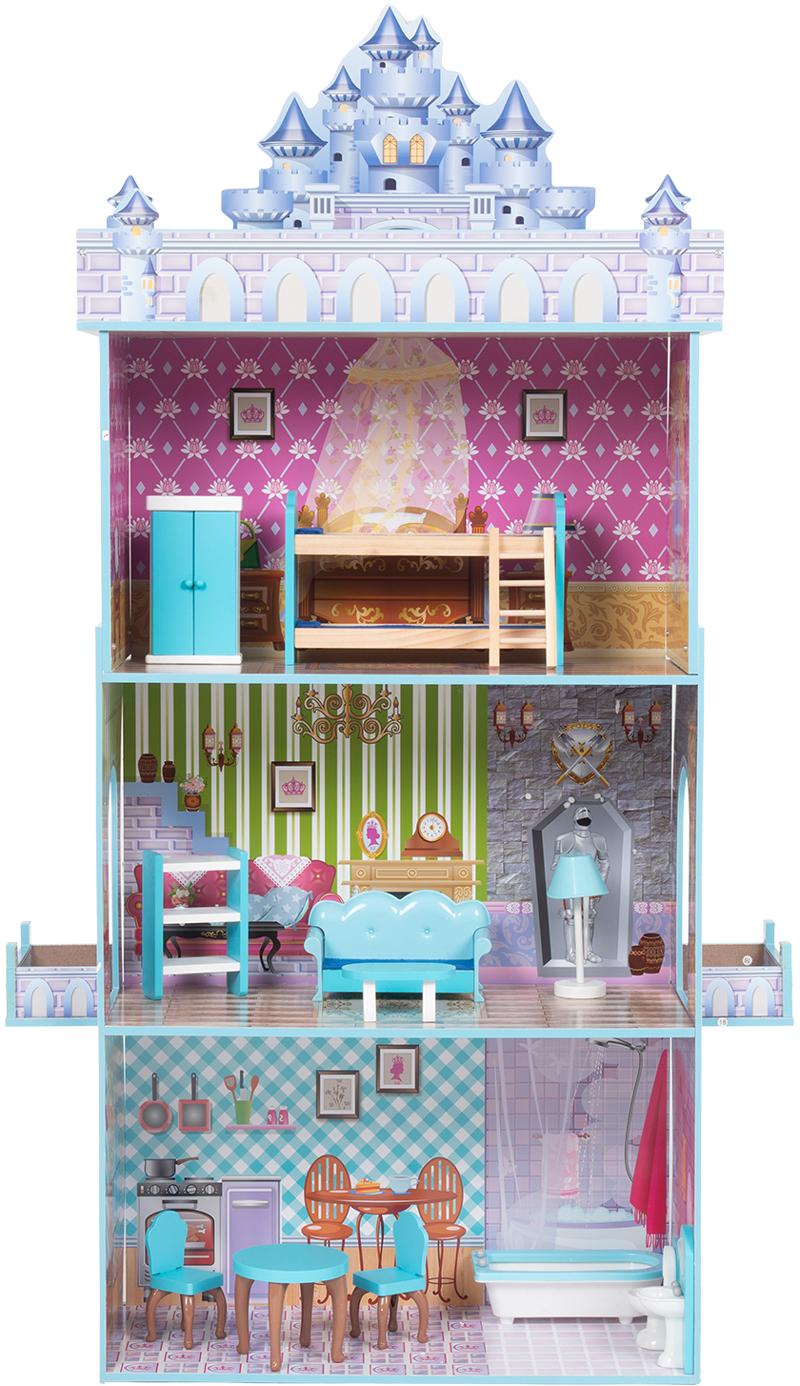 Кукольный домик Игруша 141 см TX1095 с мебелью, вид спереди