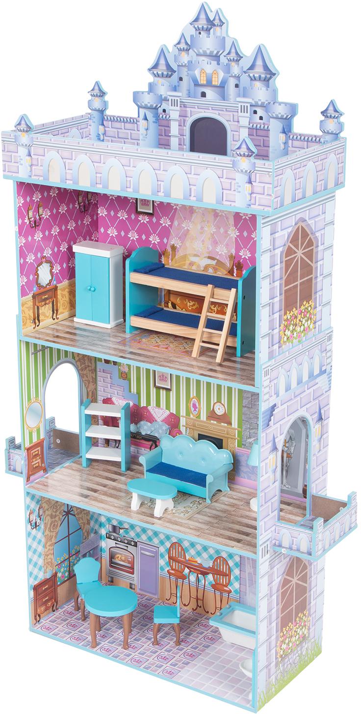Кукольный домик Игруша с мебелью 141 см TX1095 с болконом на 2-ом этаже