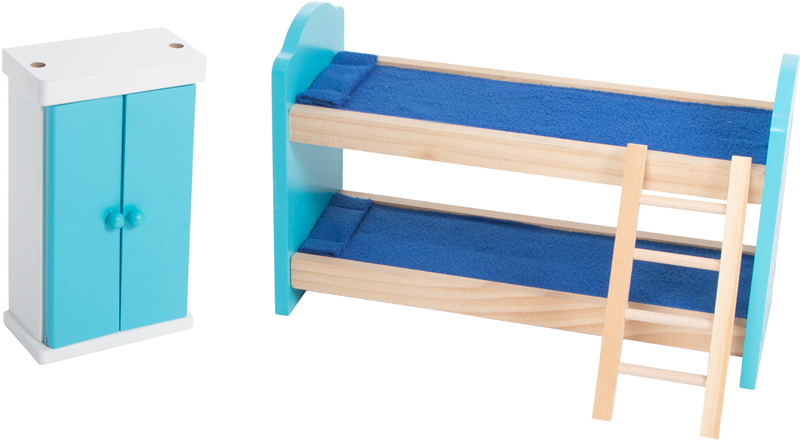 Кукольный домик Игруша с мебелью 141 см TX1095 шкафчик и двухяросная кровать